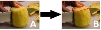 Ananas tagliato