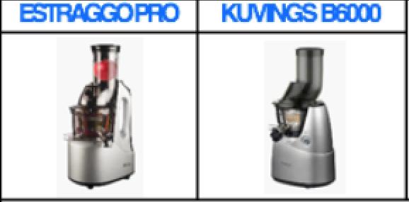 Differenze fra Estraggo Pro e Kuvings B 6000