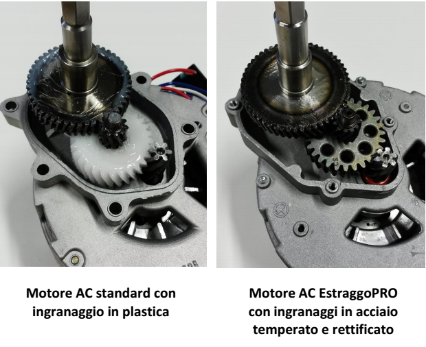 Qualità Tecnica del motore dell'Estraggo Pro