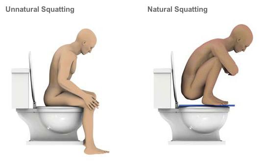 squatting naturale