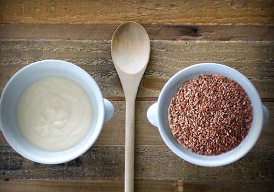 farina semi lino e kefir